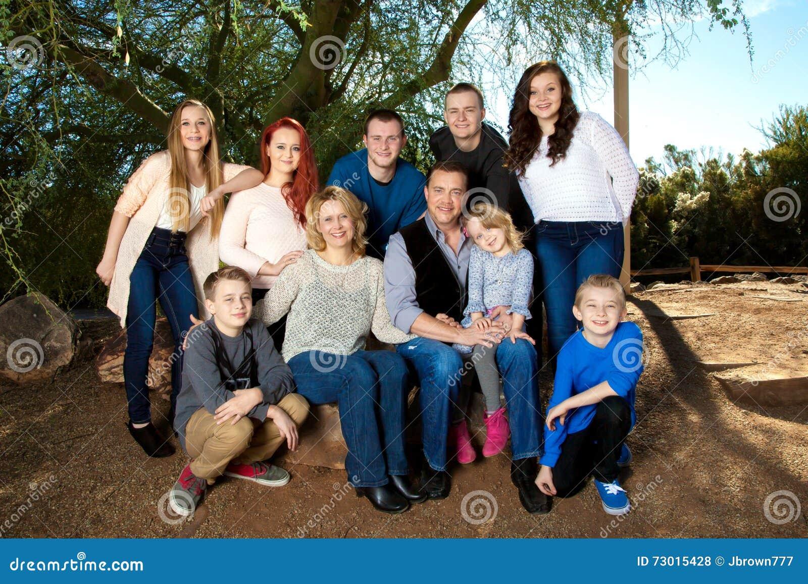 Porträt-große Familie