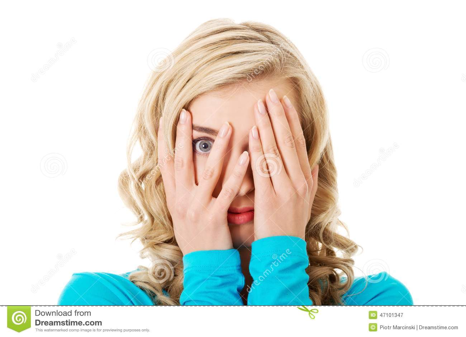 Porträt von Augen einer Frauenbedeckung