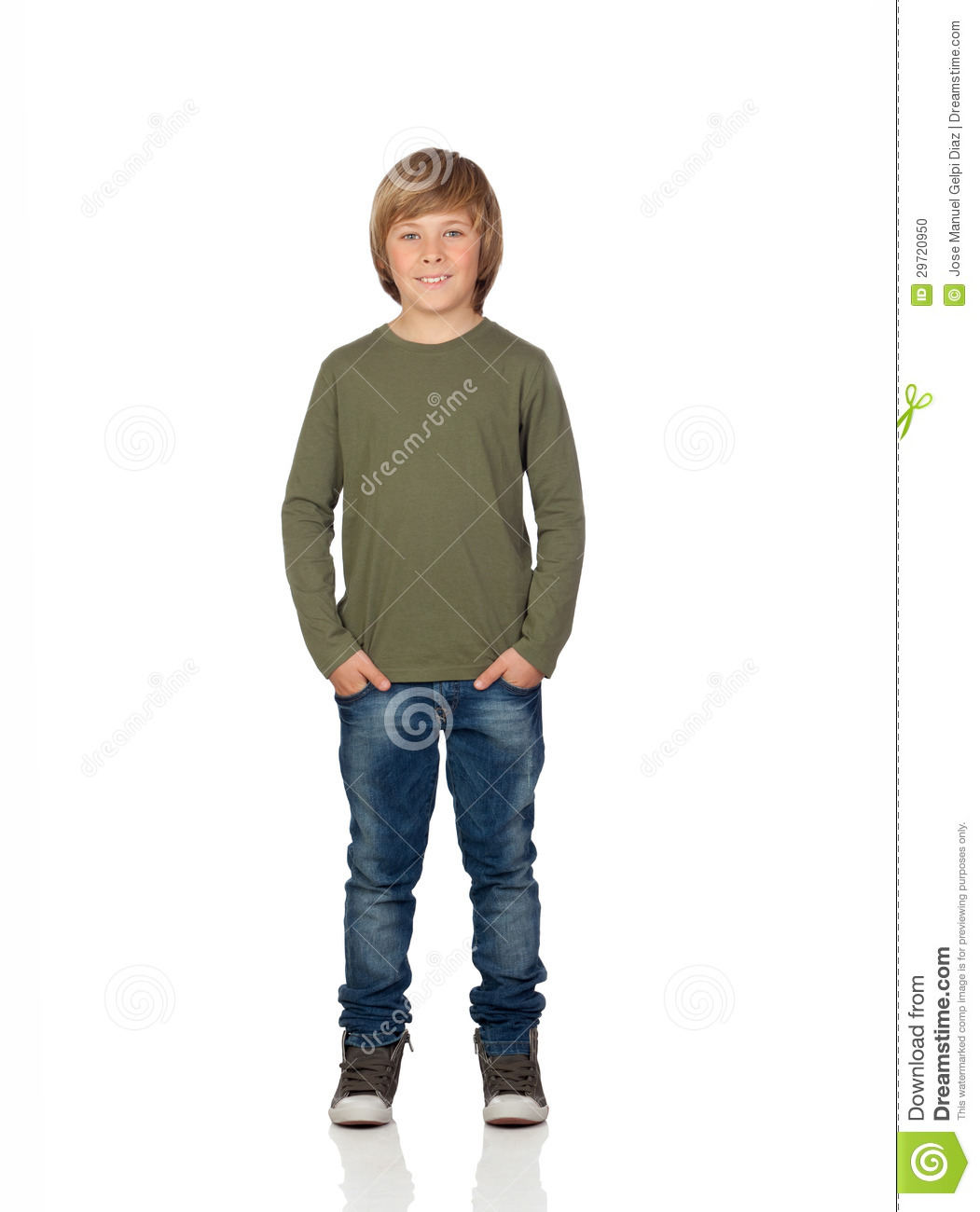 Portrait Of Adorable Child Standing Stock Photo - Image ...