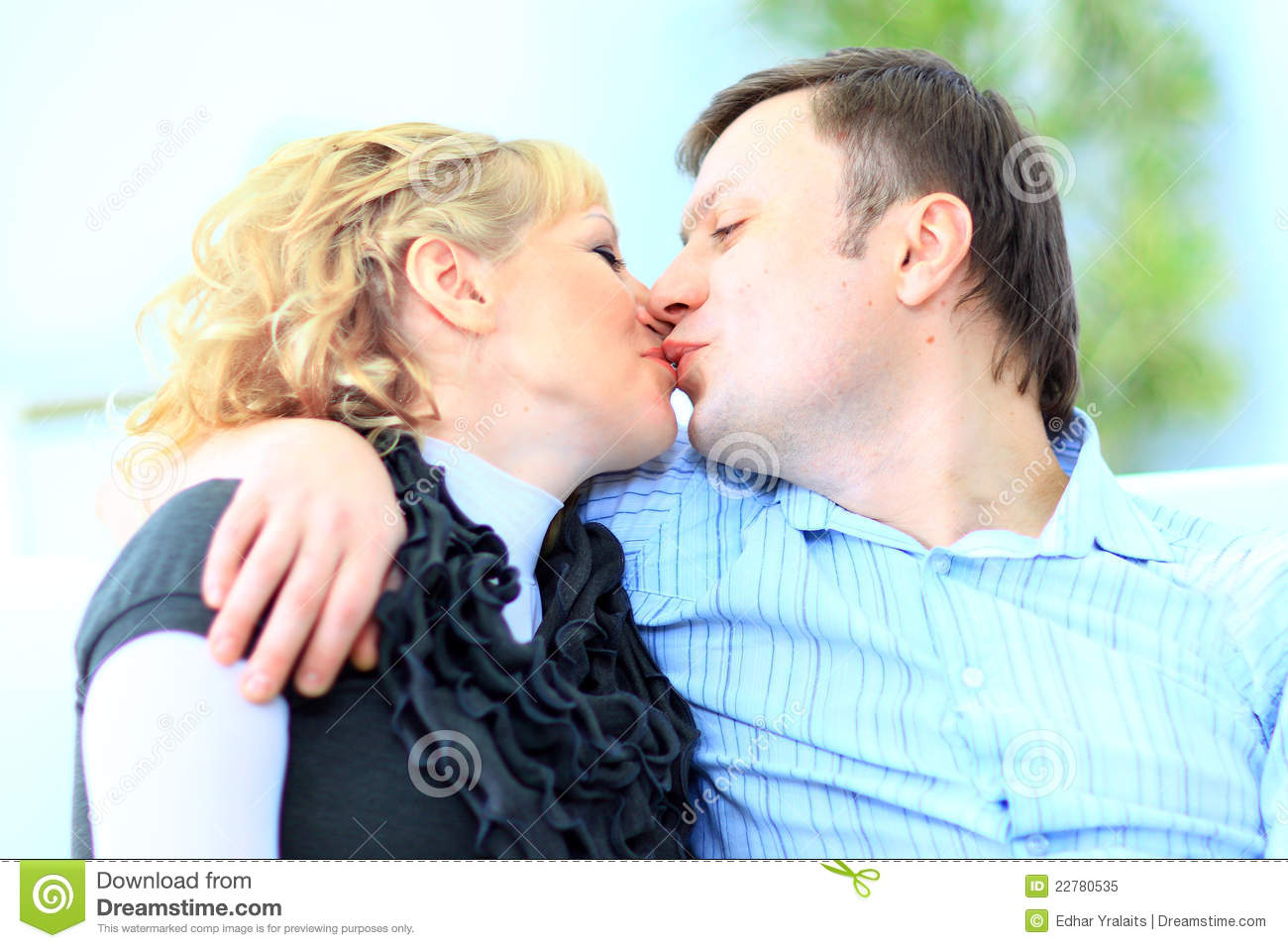 Portrait Of An Affectionate Man Stock Image - Image of