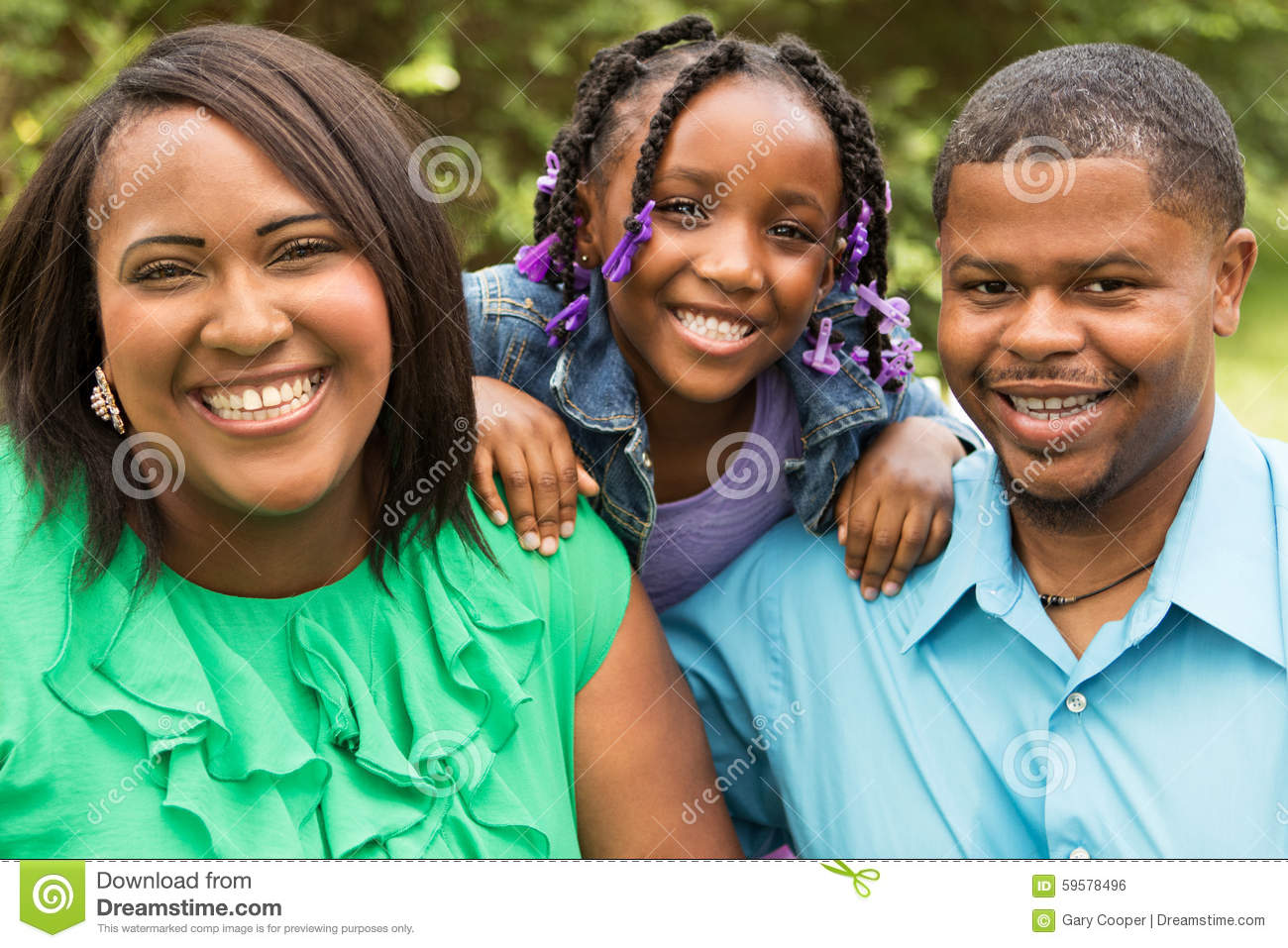 Portrait of an African American family