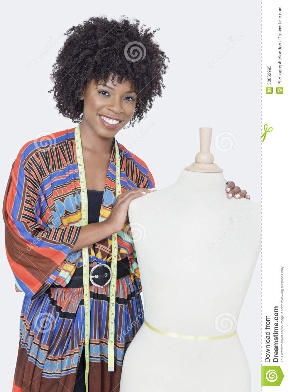 Portrait Of African American Female Fashion Designer With