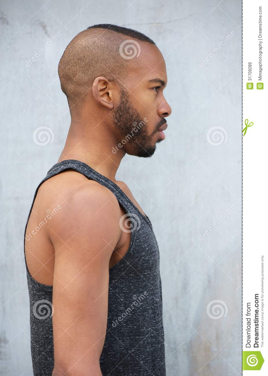 Portrait Of An African American Male Model Royalty Free