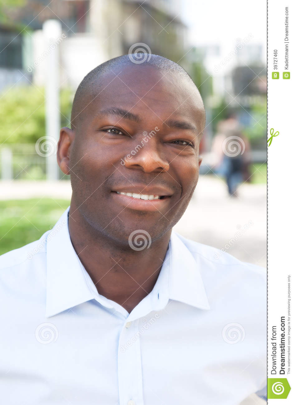 Portrait of an african man outside
