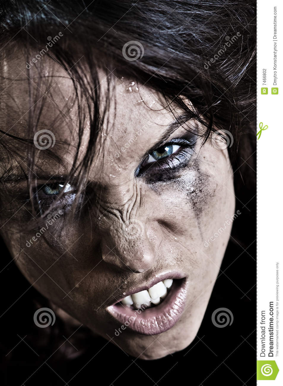 Portrait Of Angry Woman Stock Photography - Image: 7466802