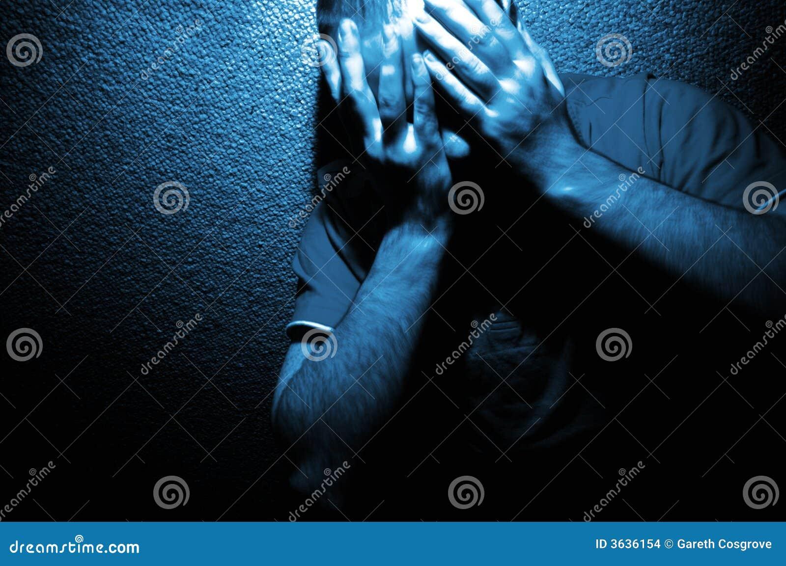 Portrait of Anguish in Blue
