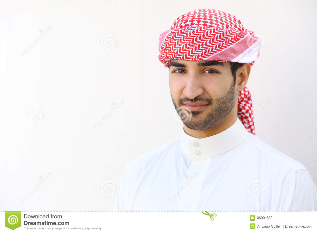 Portrait of an arab saudi man outdoor
