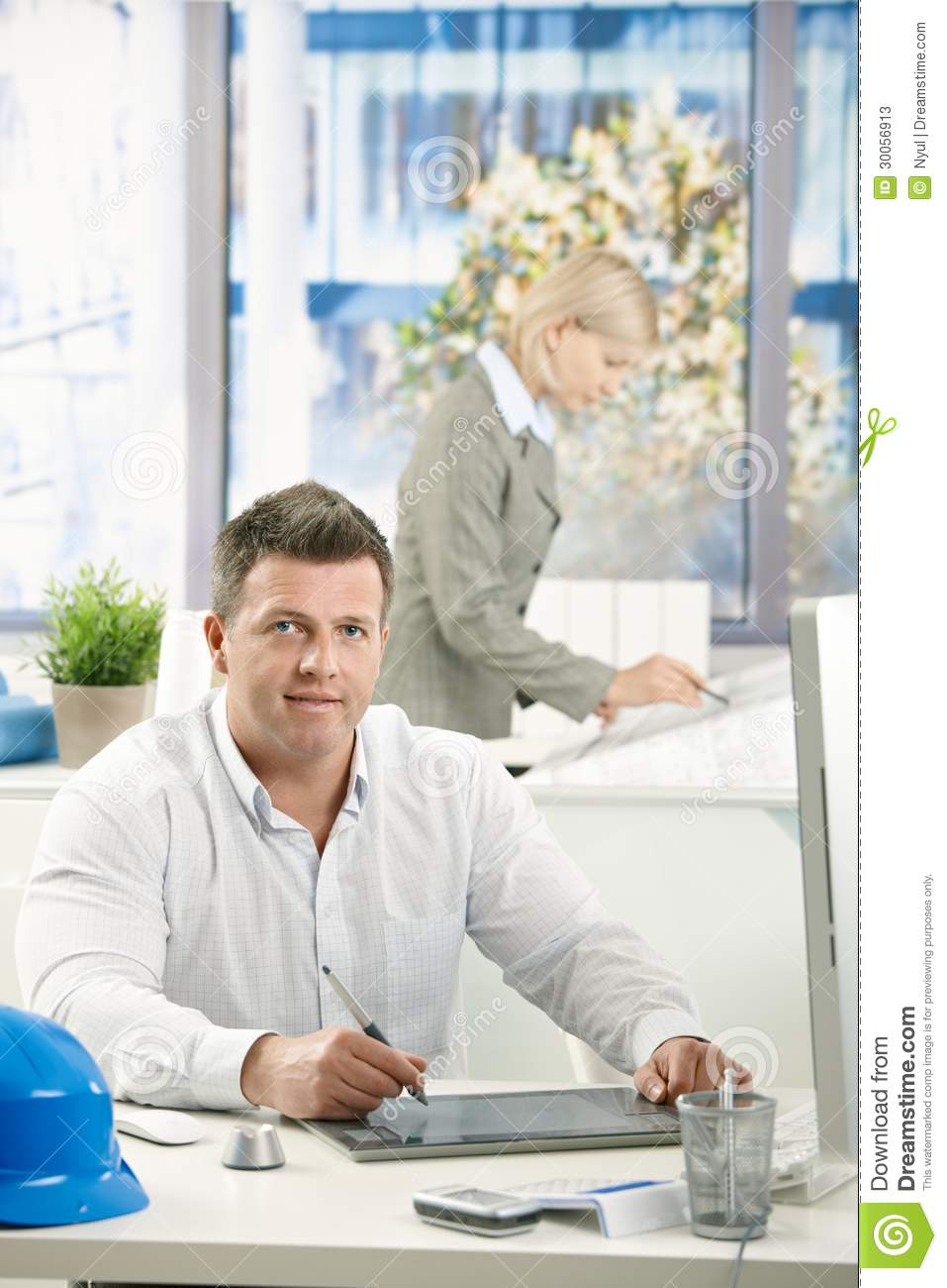 Architect at work stock photos image 30056913 for Architect at work