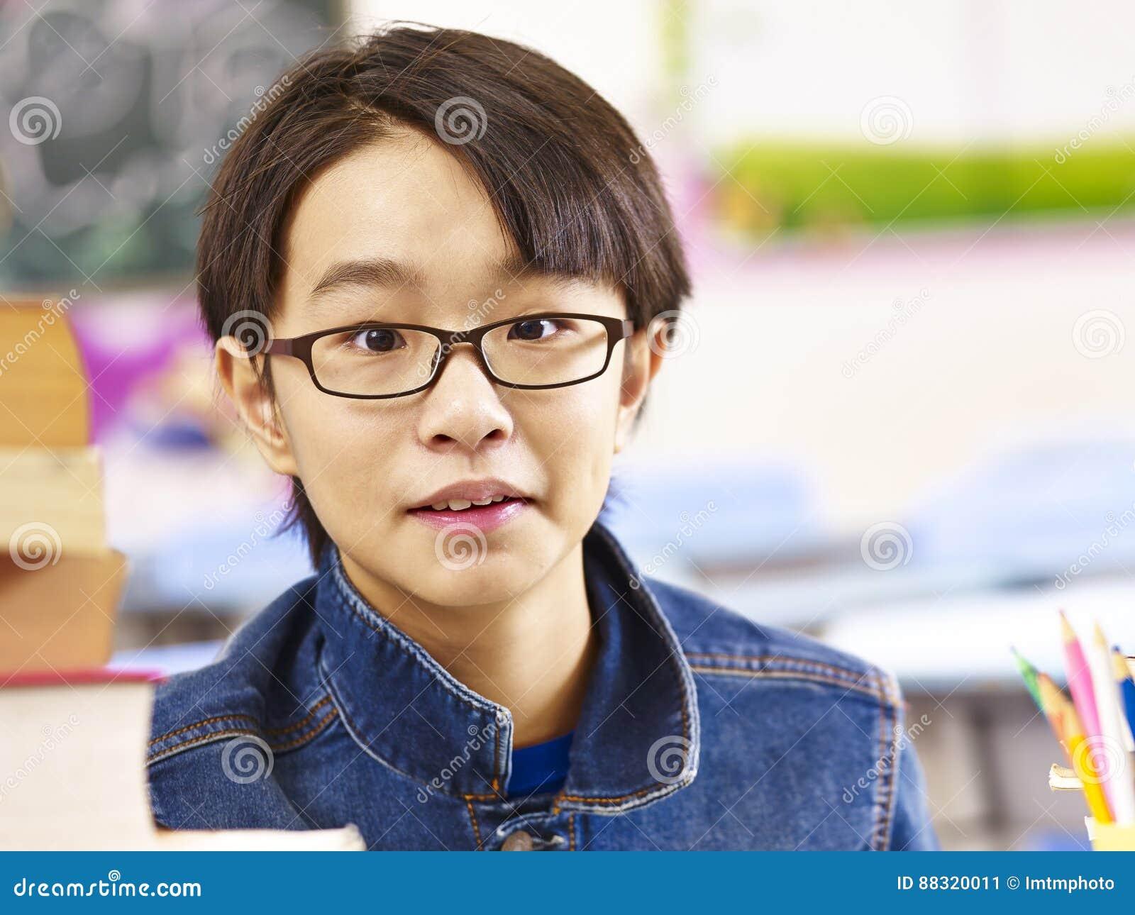 Portrait of asian elementary school student