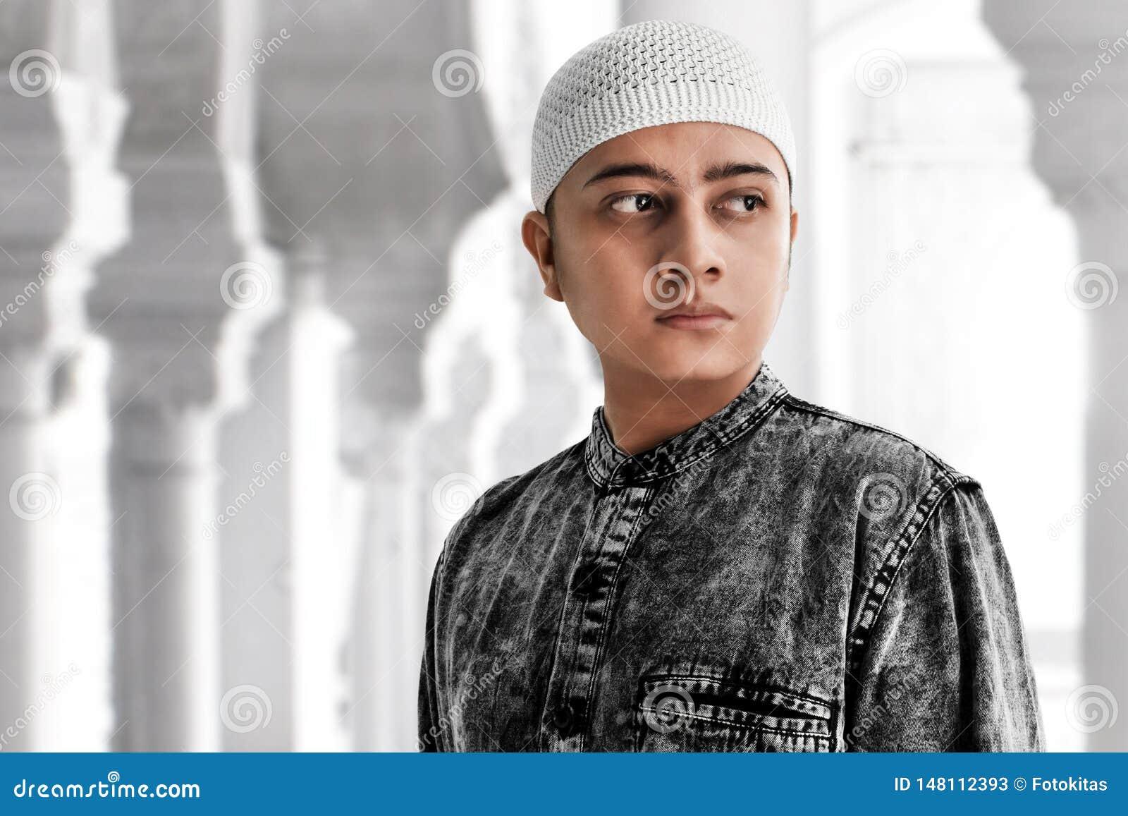 Portrait of asian muslim man