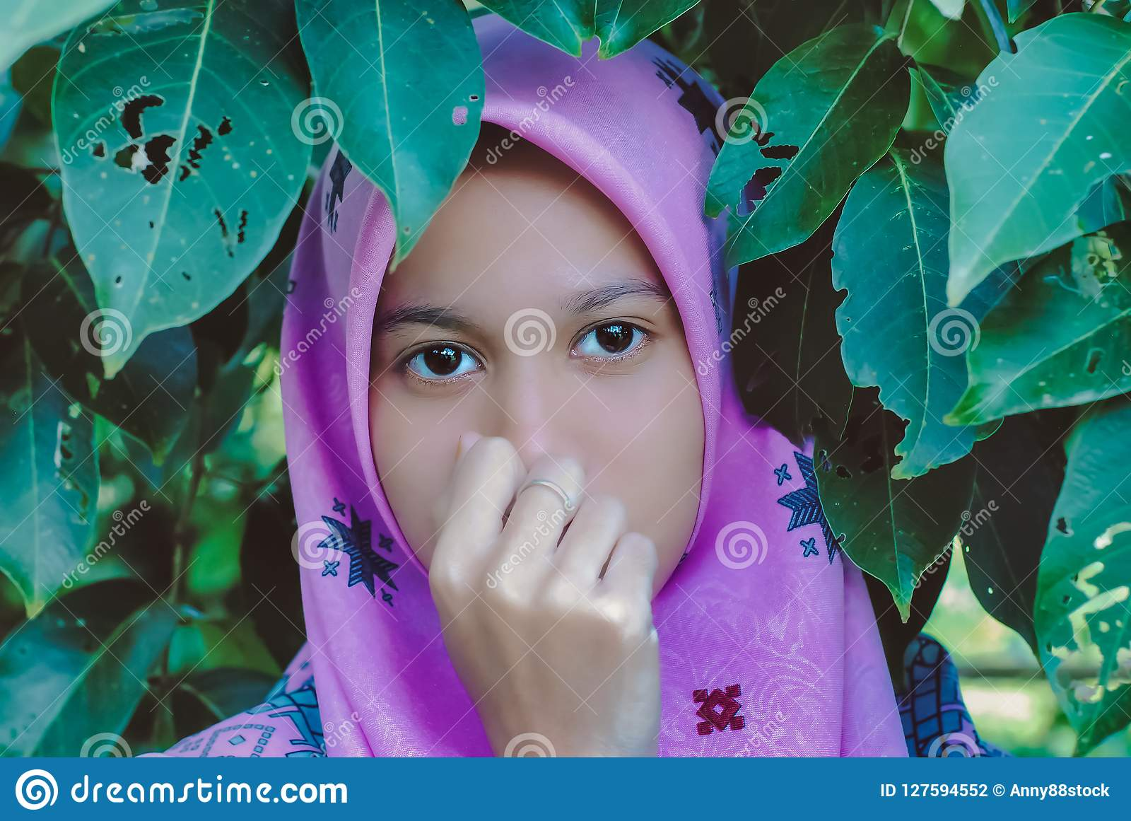 Portrait of muslim teen