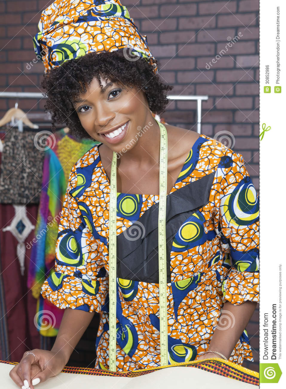 Portrait Of An Attractive African American Female Fashion