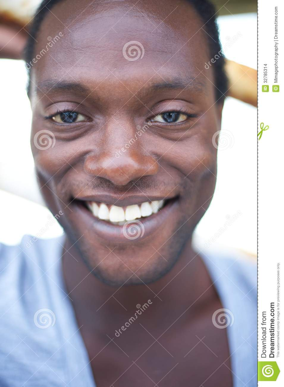 Portrait of an attractive african american man smiling
