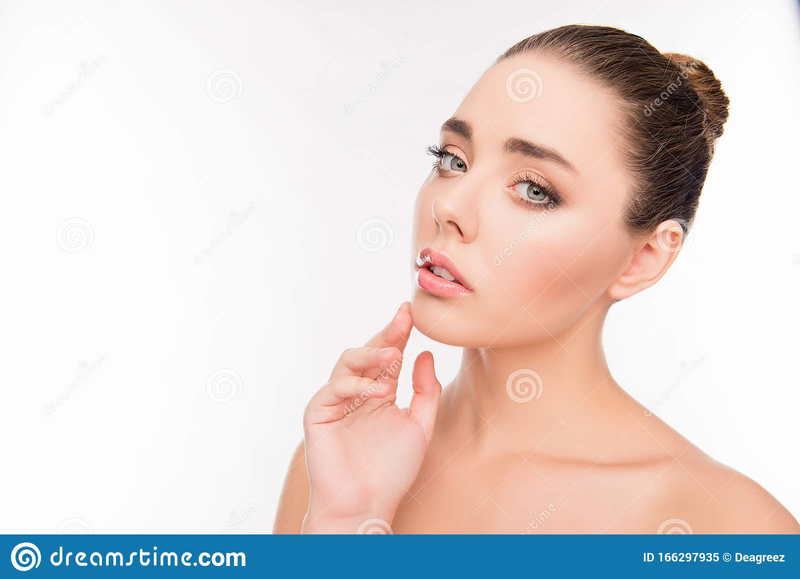 Premium Photo   Portrait of young beautiful caucasian