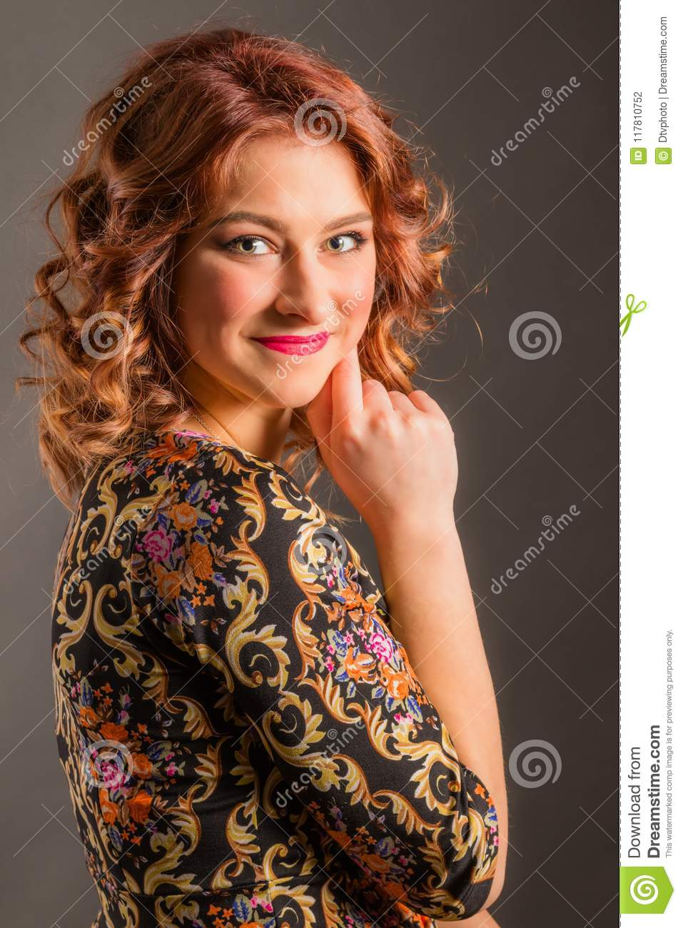 Portrait of attractive smiling girl