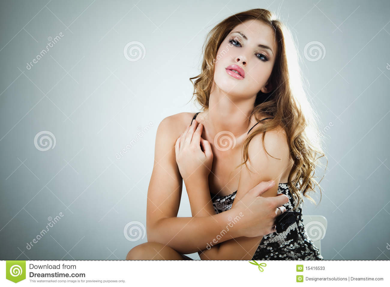 Portrait of an Attractive Young Woman