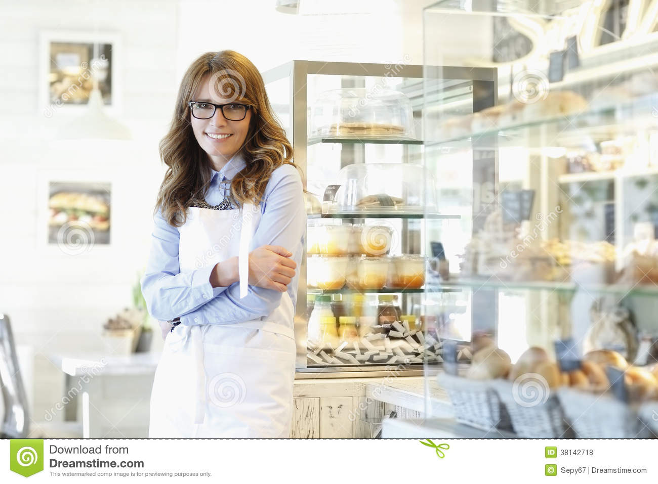 bakery shop flyer template magazine cover stock vector image portrait of bakery shop owner royalty stock photos