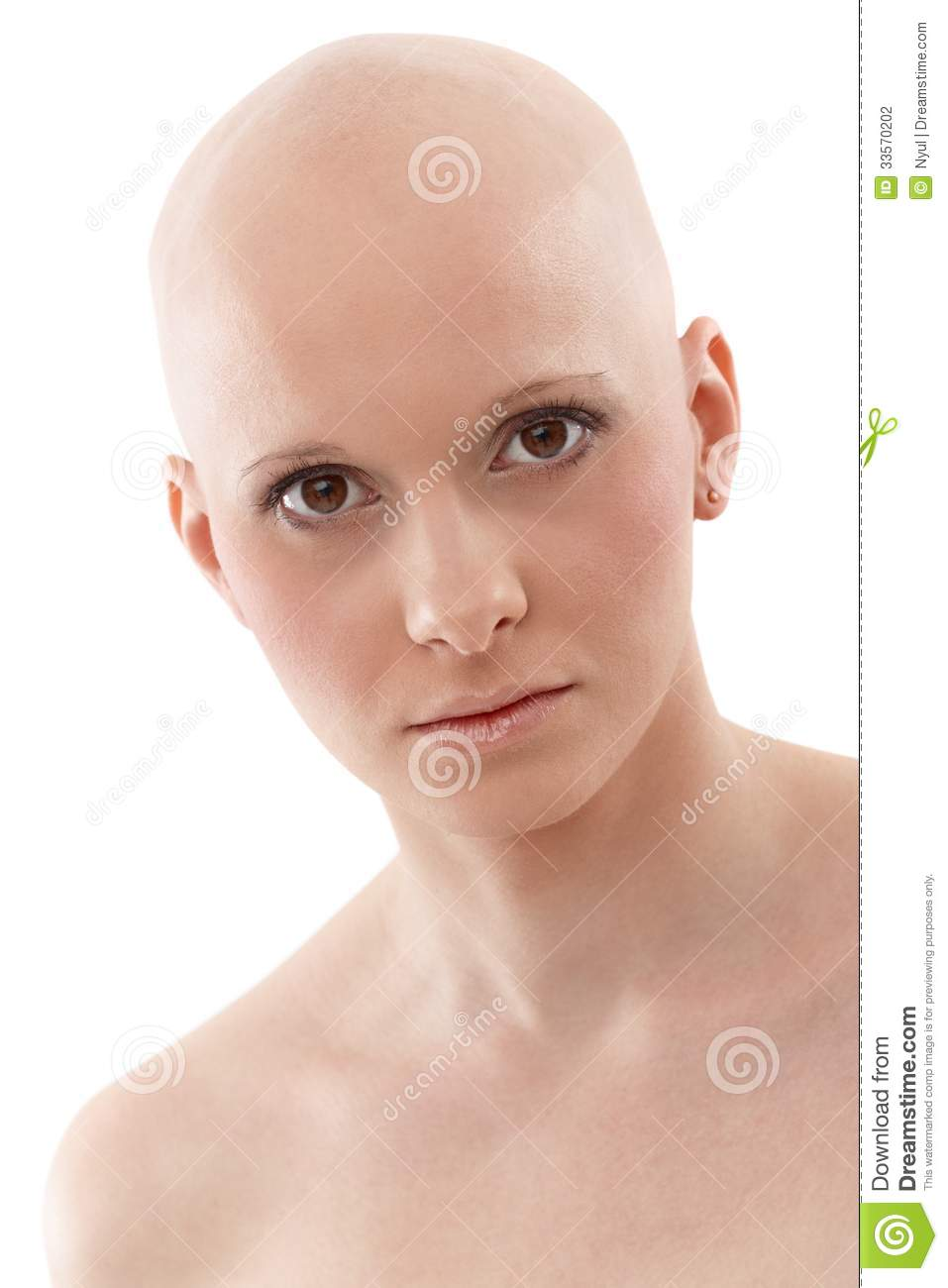 Cancer head shaved