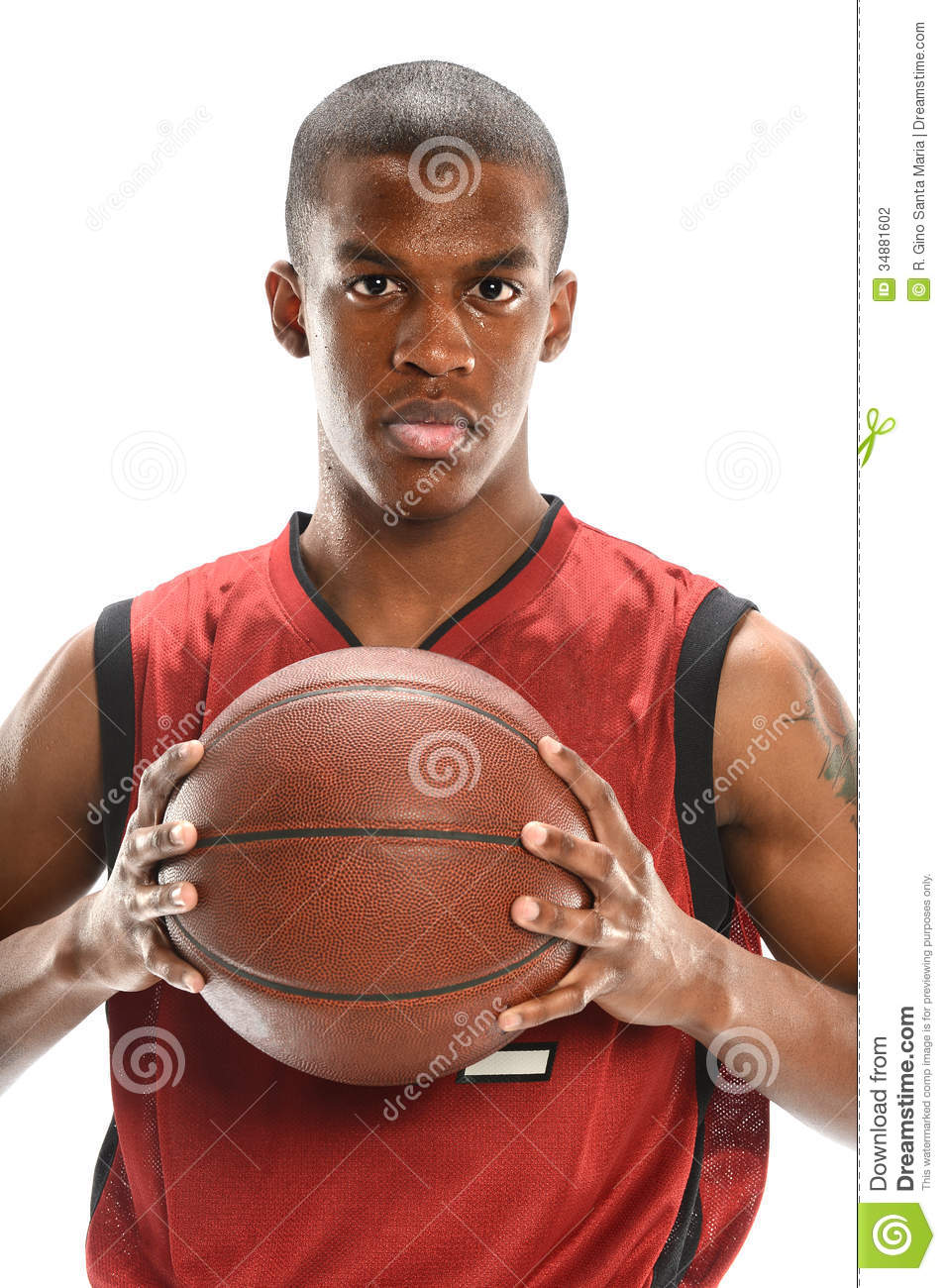 Portrait Of Basketball Player Stock Photo - Image of ...