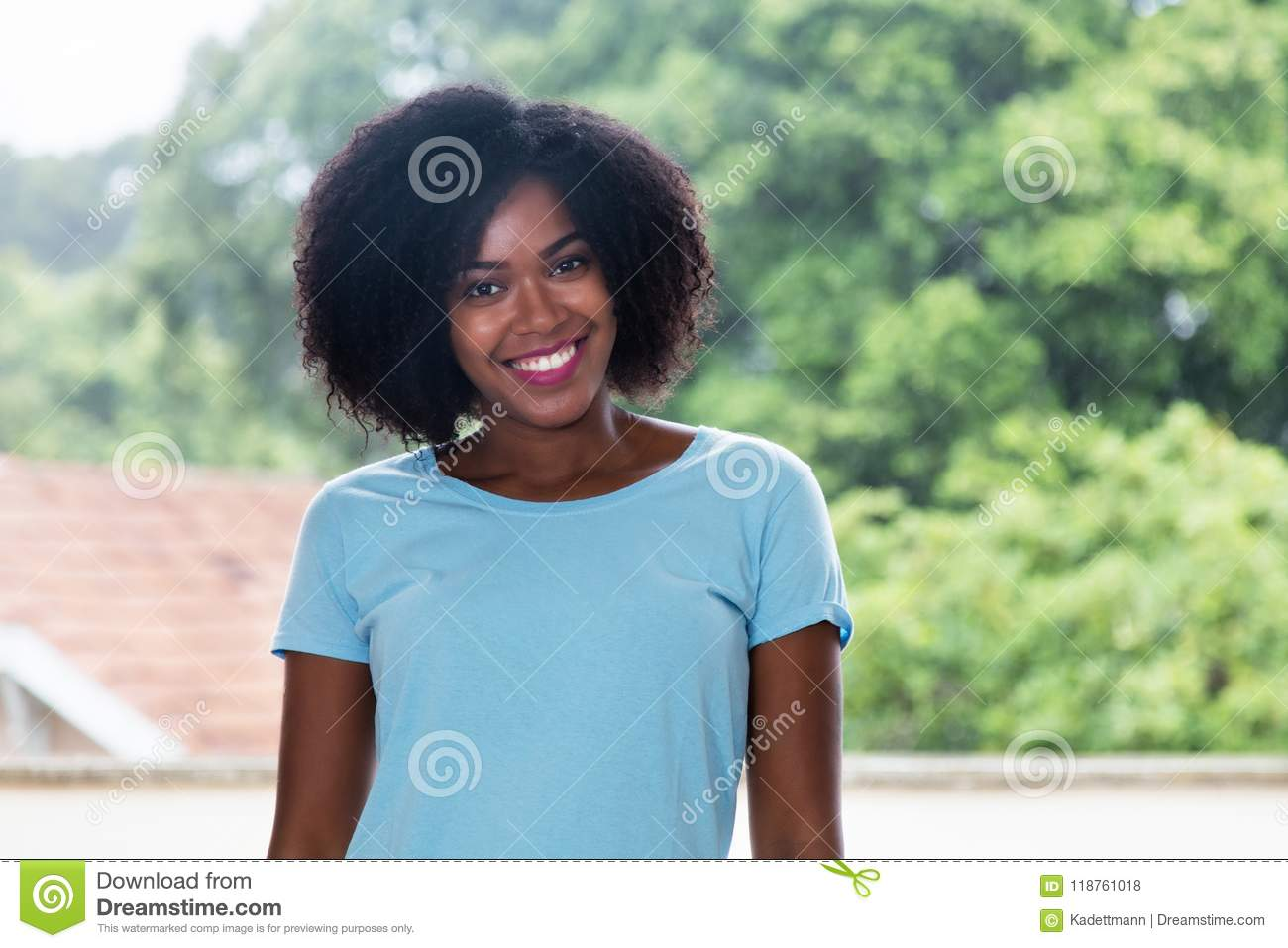Download Portrait Of A Beautiful African American Woman Stock Photo - Image of colombian, hispanic: 118761018