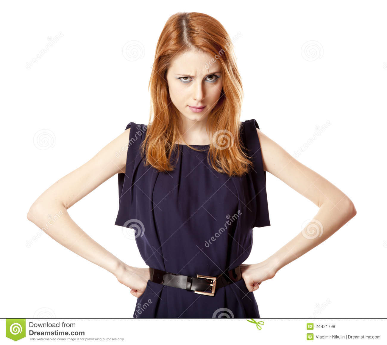Portrait Of Beautiful Angry Girl Royalty Free Stock