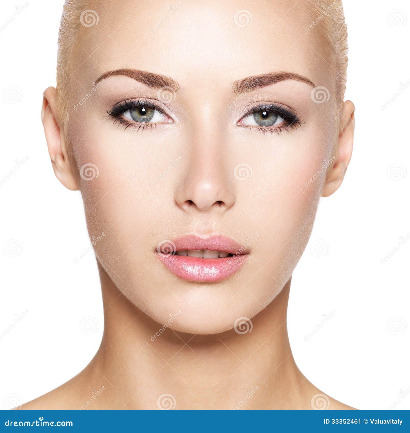 Portrait of the beautiful blond woman stock image image 33352461