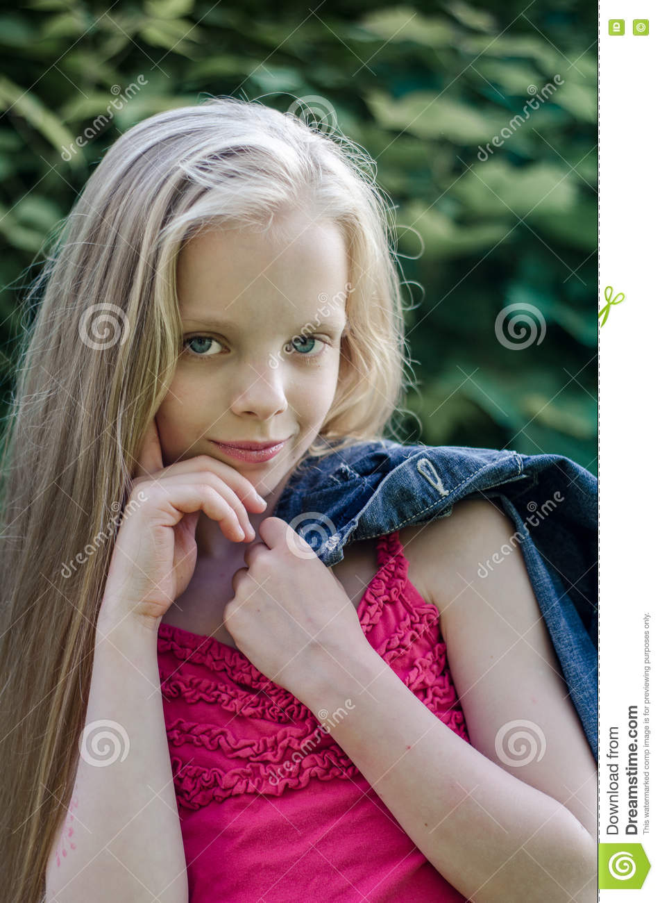 Girl With The Blog: Portrait Of A Beautiful Blonde Little Girl With Long Hair