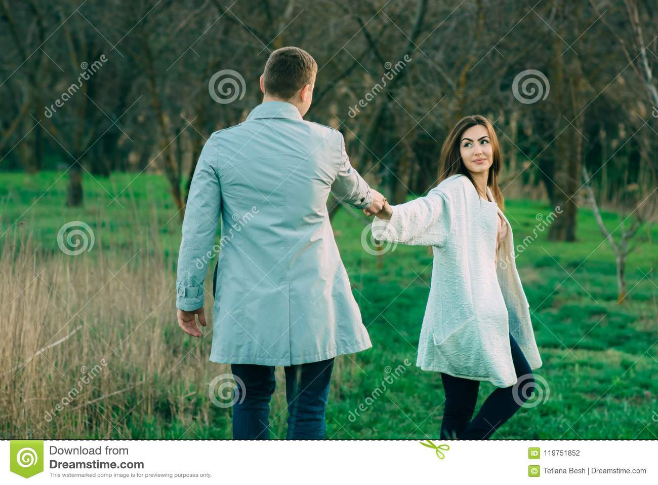 Portrait of a beautiful couple in nature