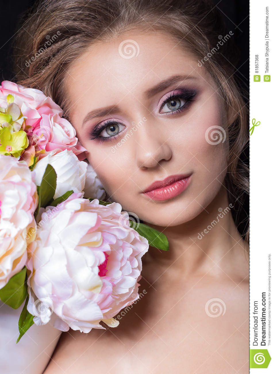Portrait Of Beautiful Cute Sweet Girl With Beautiful Bride With ...