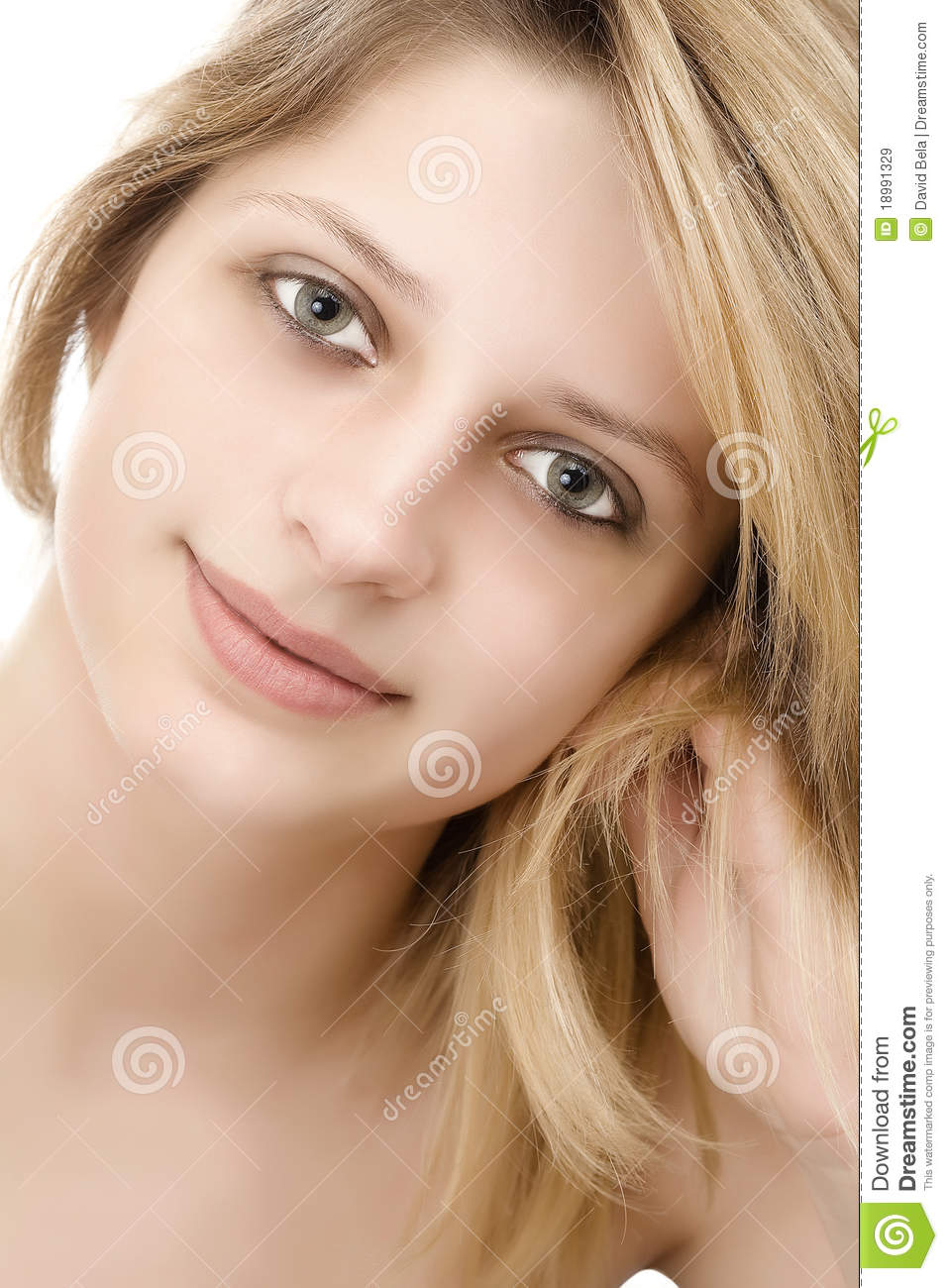 Portrait Of A Beautiful Female Model Royalty Free Stock