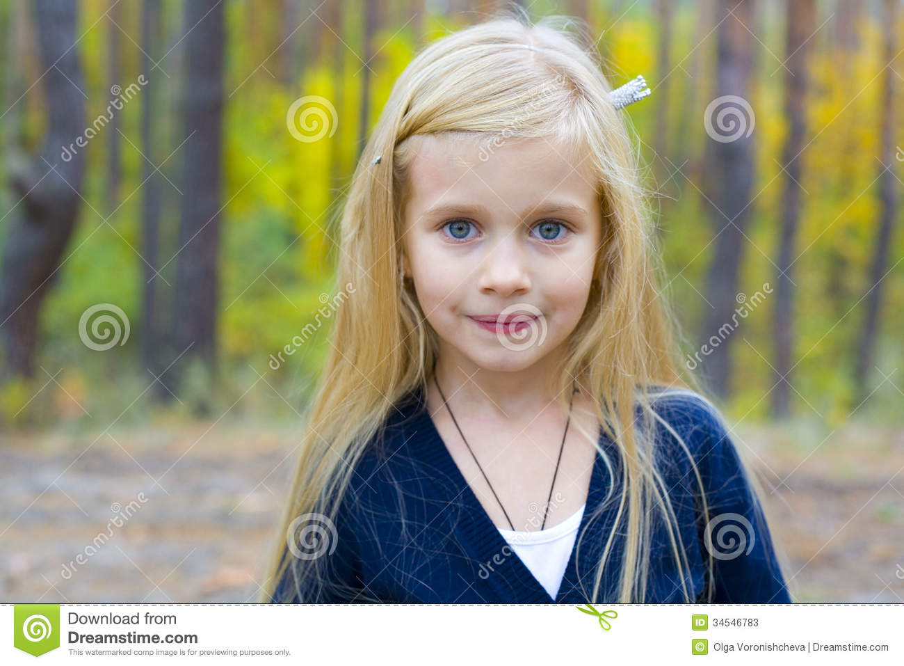 Portrait Of Beautiful Five Year Old Girl Stock Photos