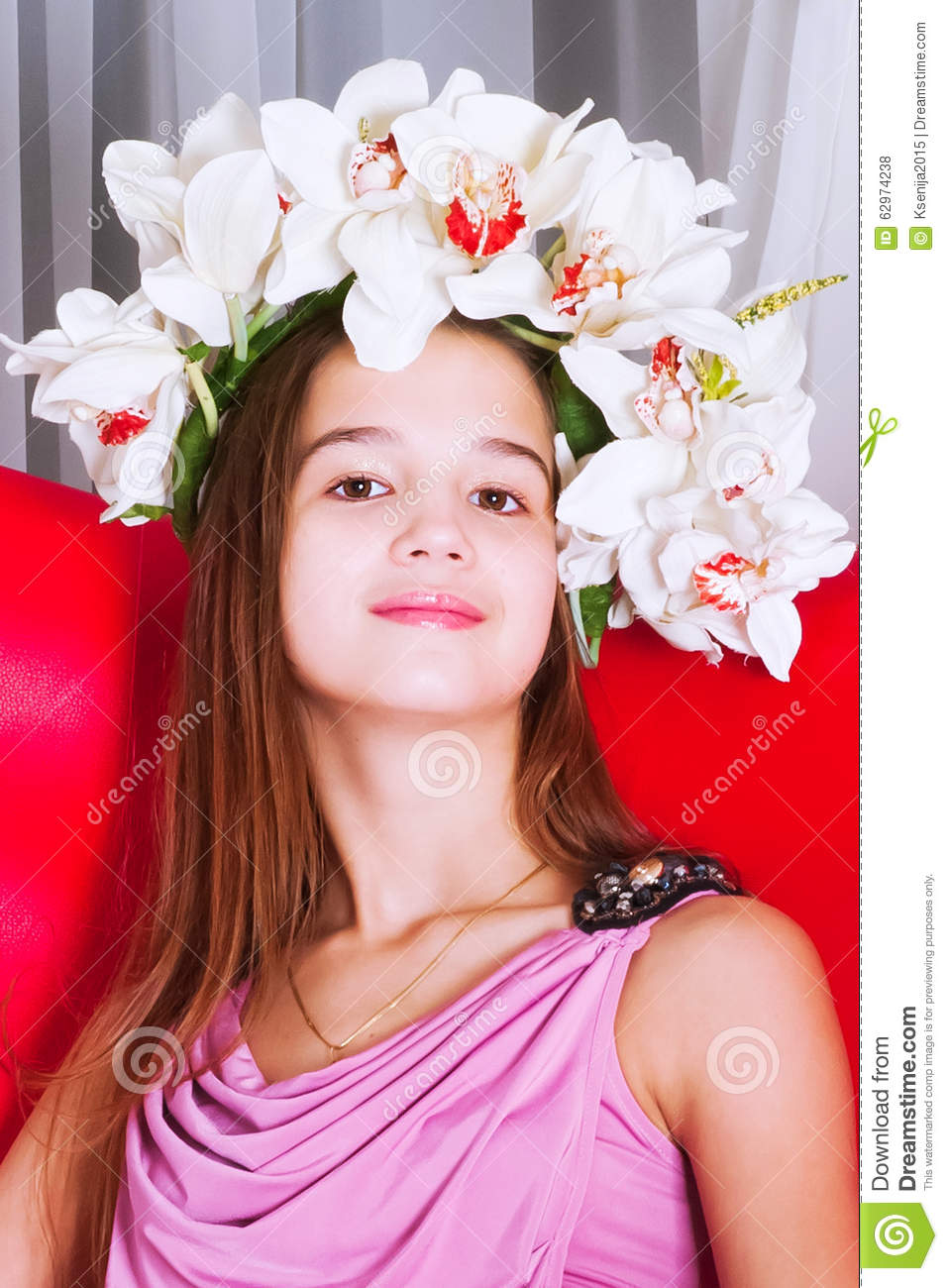 Portrait Of A Beautiful Girl Of European Appearance Stock ... - photo#29