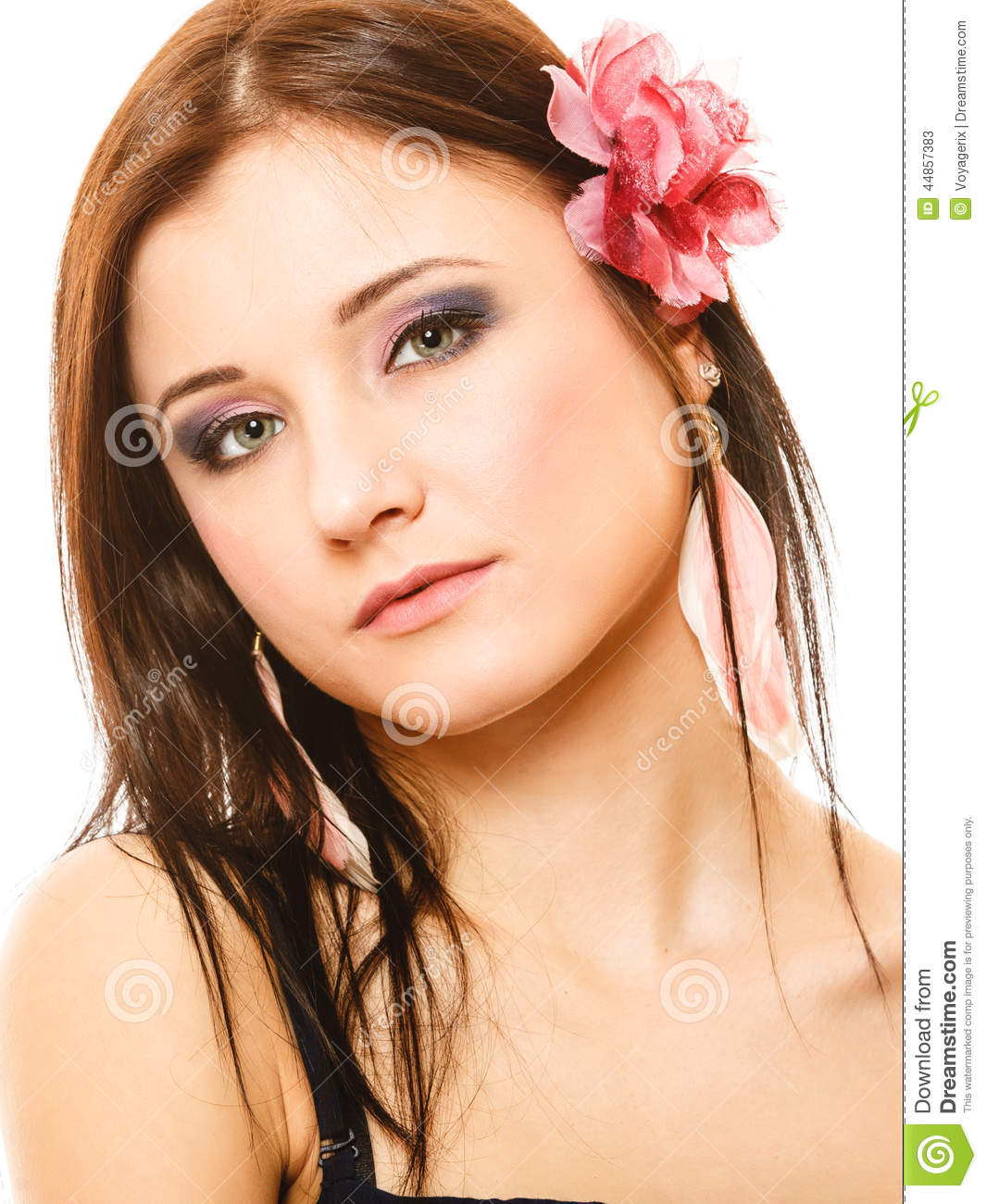 Portrait Of Beautiful Girl In Summer Style Stock Image Image 44857383