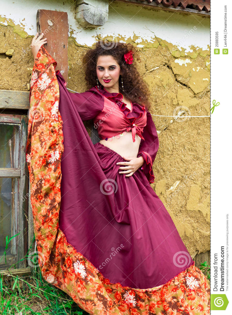 Portrait Of Beautiful Gypsy Woman Stock Image - Image of ...