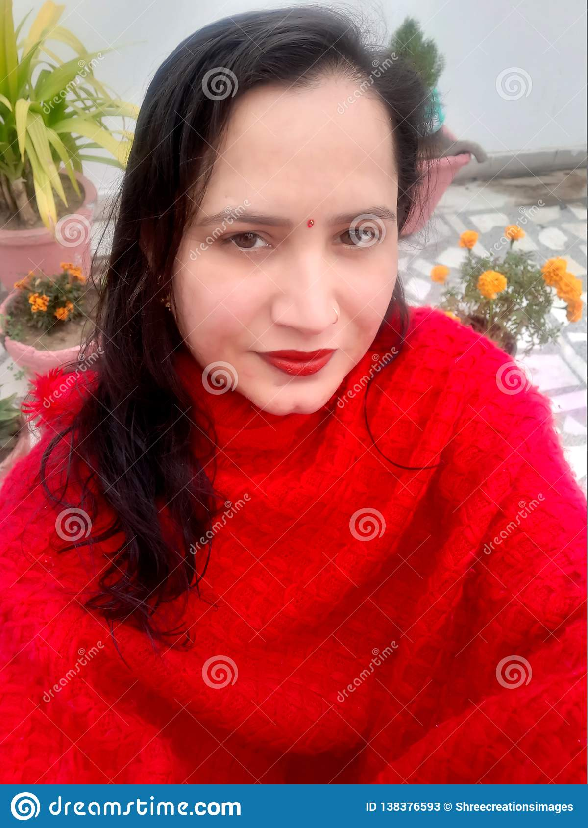 Portrait of a beautiful Indian women.