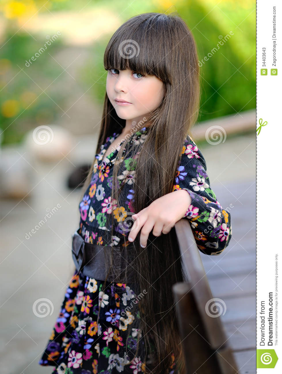 Royalty-Free Stock Photo. Download Portrait Of A Beautiful Little Girl ...