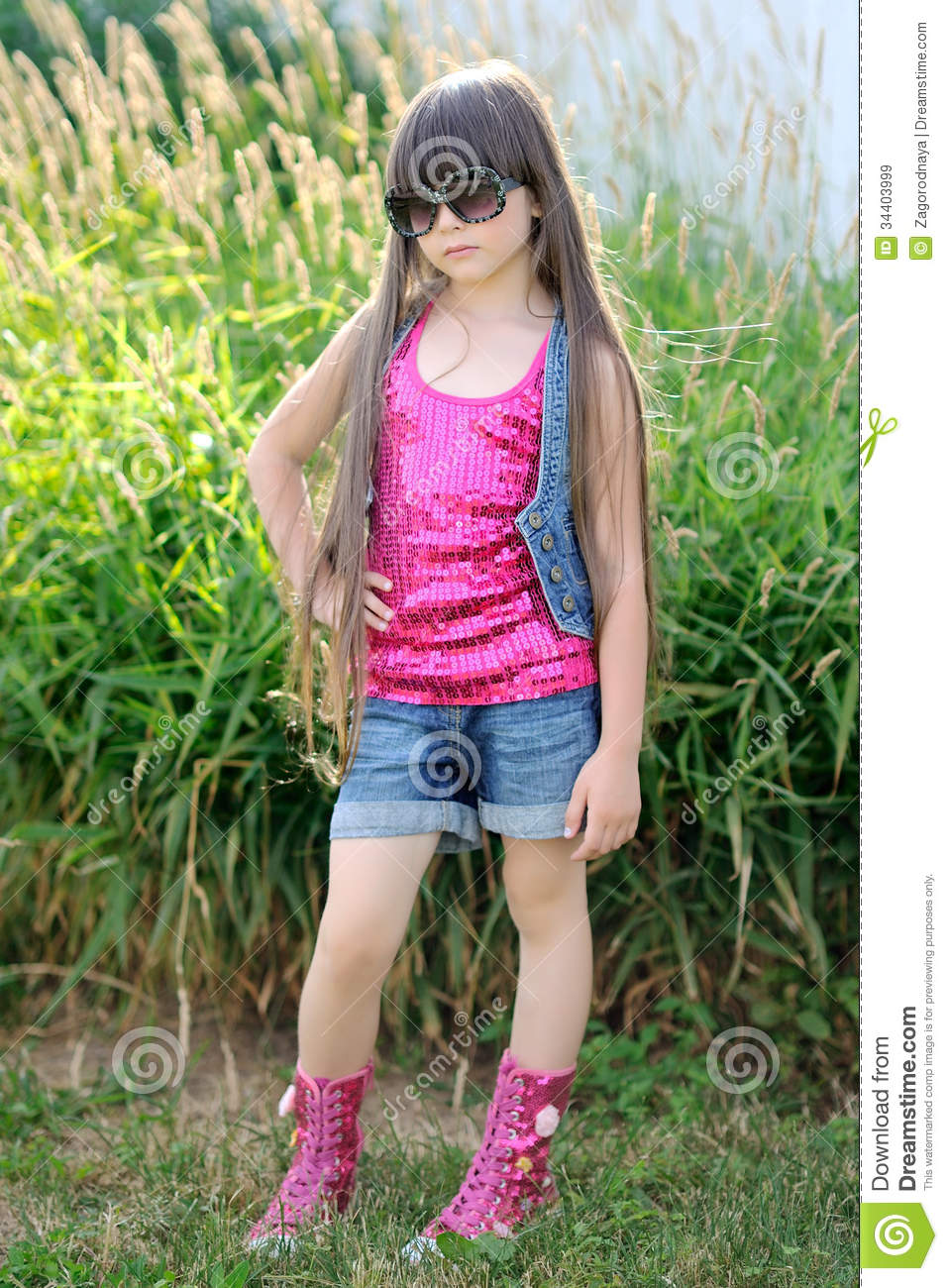 Portrait of a beautiful little girl stock image image for Beautiful small teen