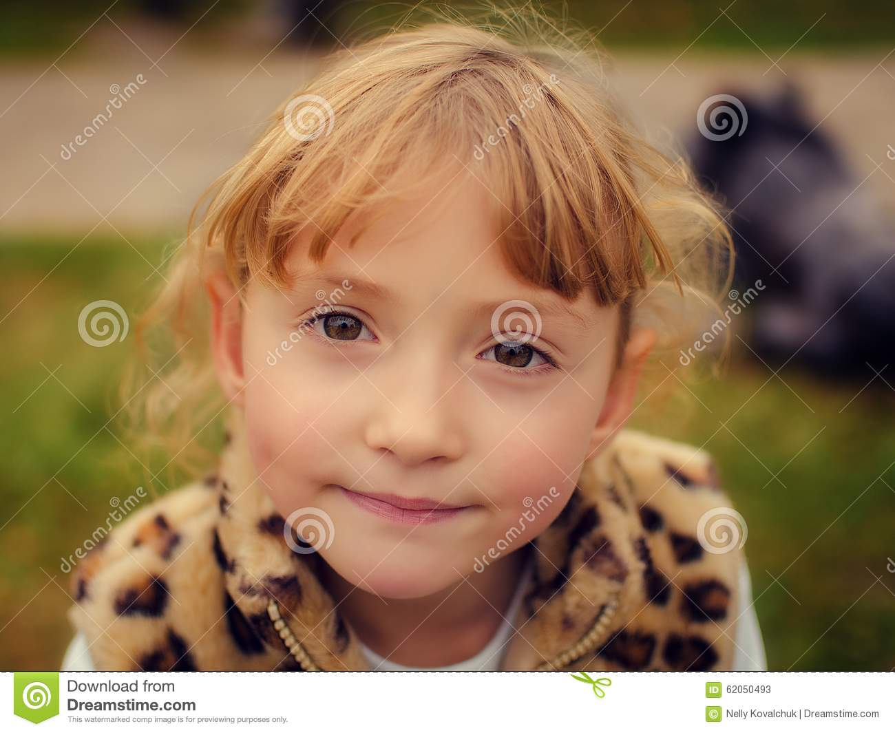 Stock Photos Portrait Of A Beautiful Little Girl Image