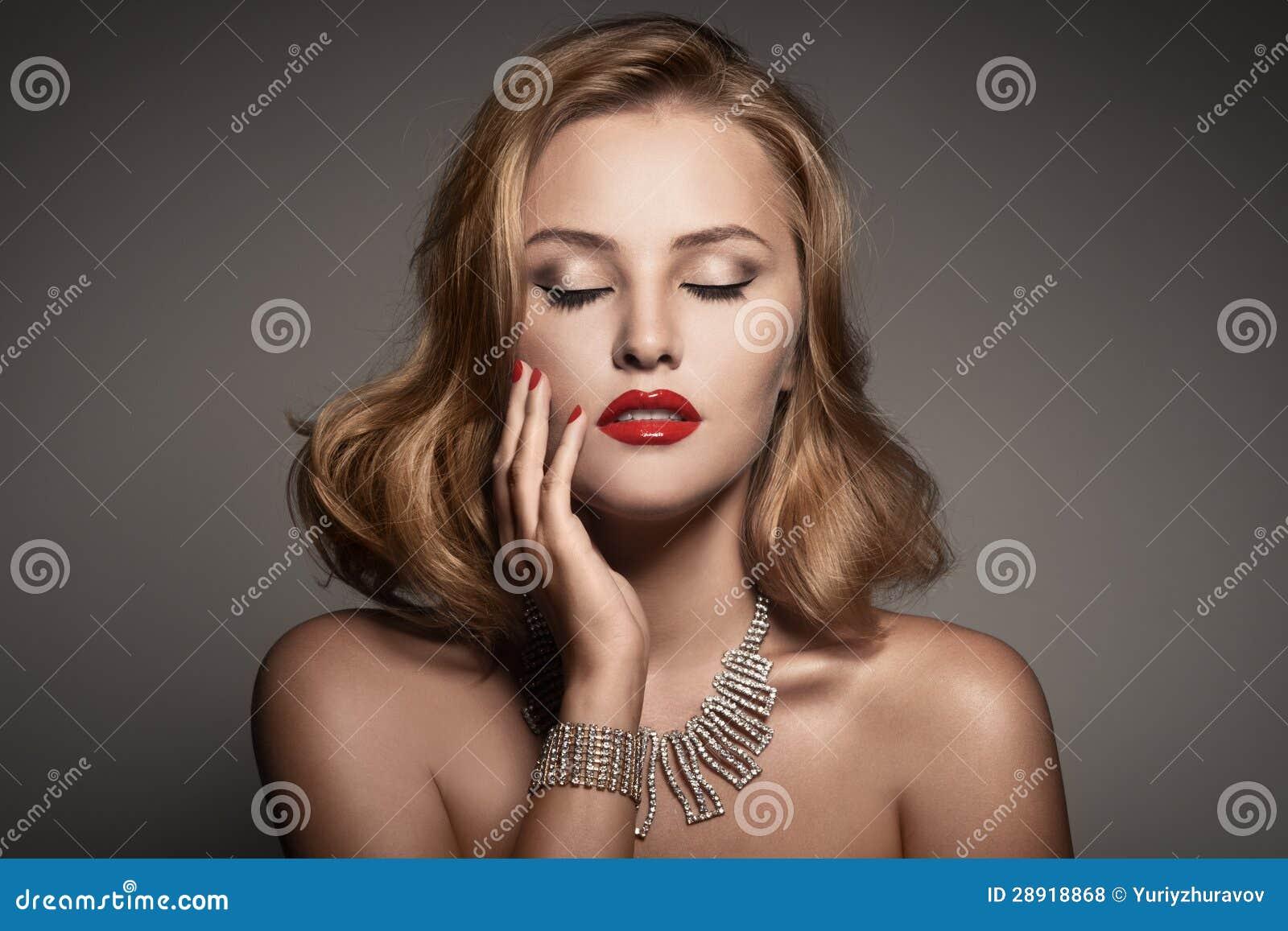 Portrait Of Beautiful Luxury Woman With Jewelry