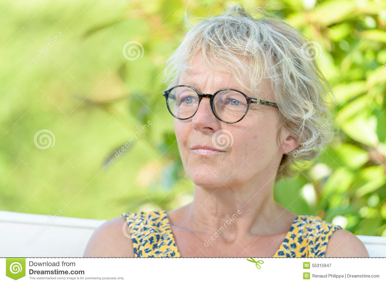 Portrait of a beautiful middle-aged woman