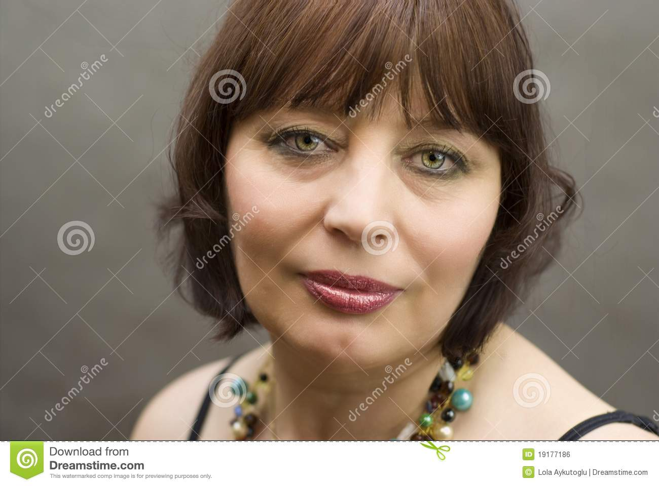 portrait of a beautiful middle-aged women stock photo