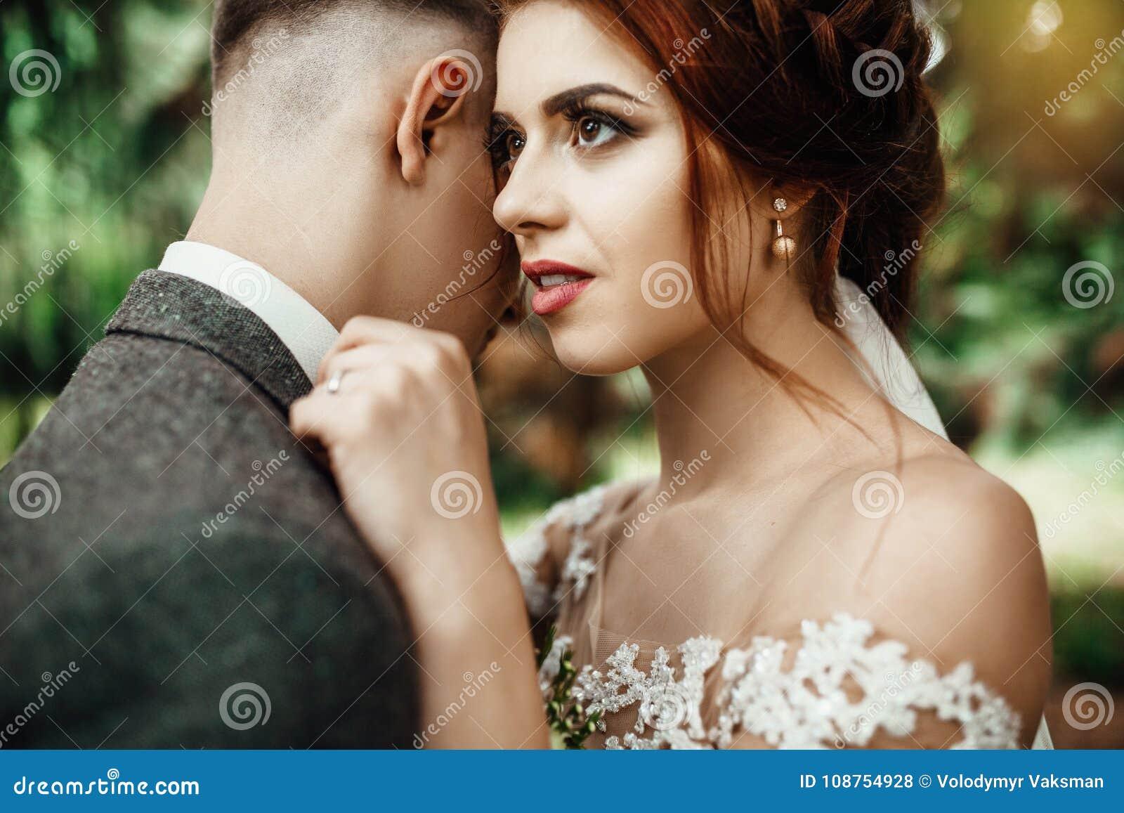 Portrait Of The Beautiful Romantic Couple Outside Stock Photo Image Of Georgia Model 108754928
