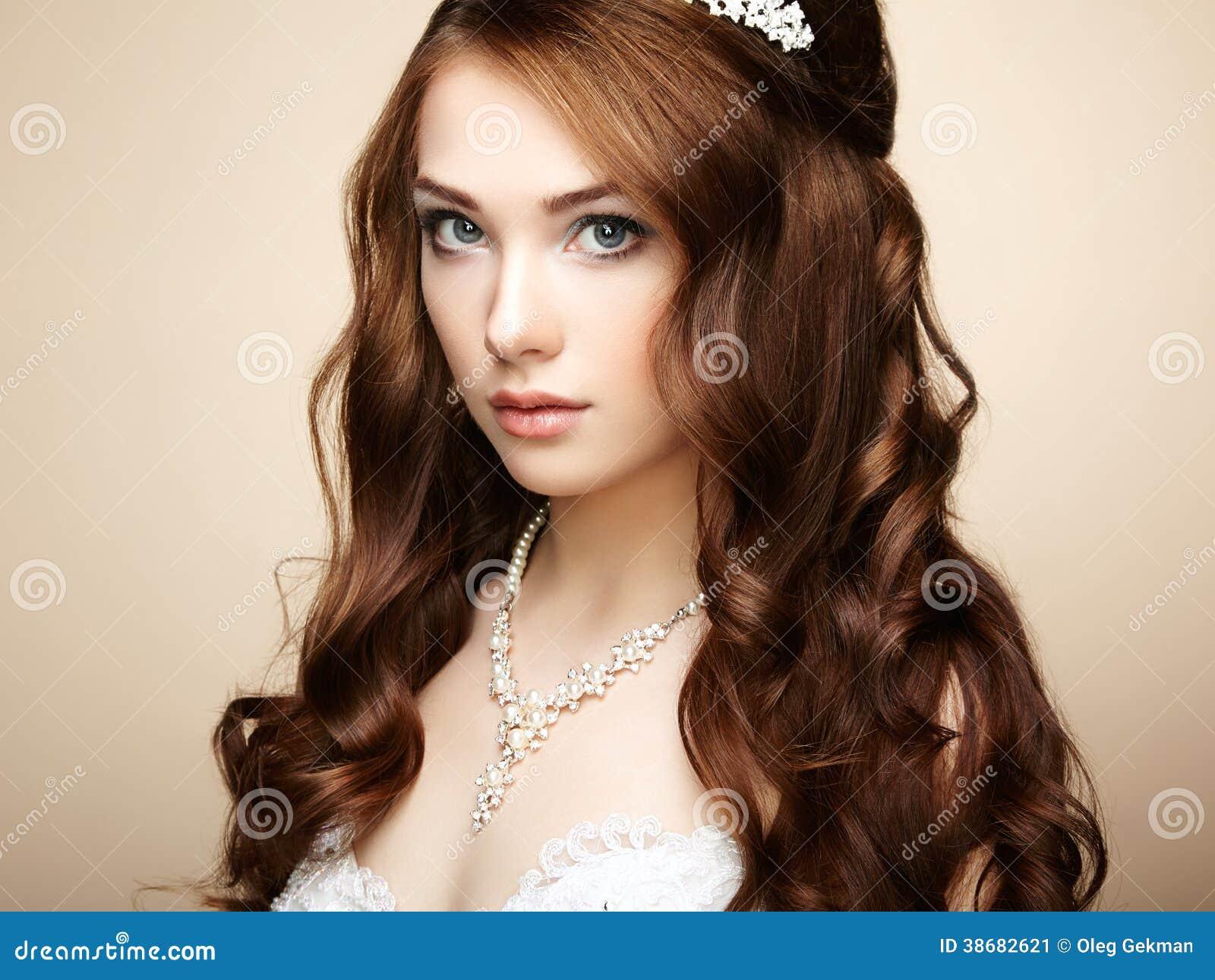 Portrait Of Beautiful Sensual Woman Stock Image Image