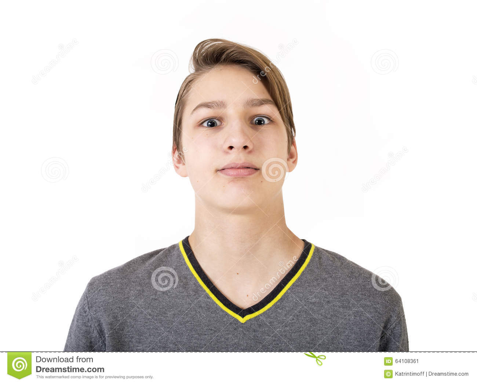 teenboy Portrait of the beautiful teen boy Stock Image