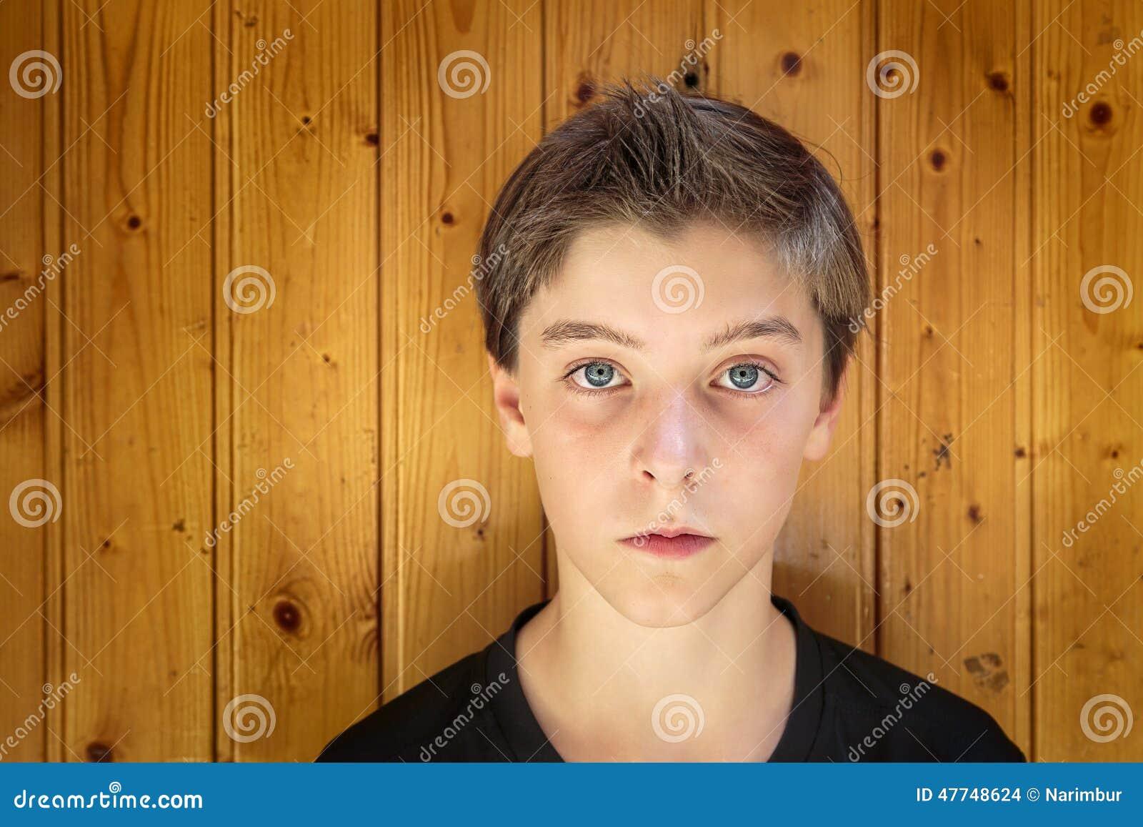 Portrait of a beautiful teenage boy