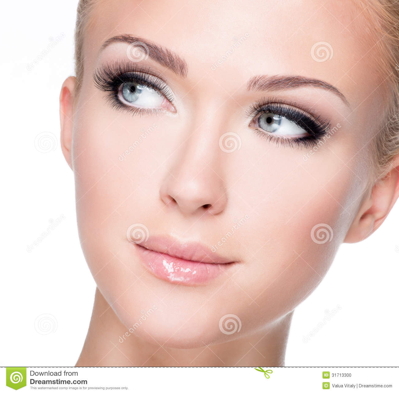 Beautiful women most white The woman