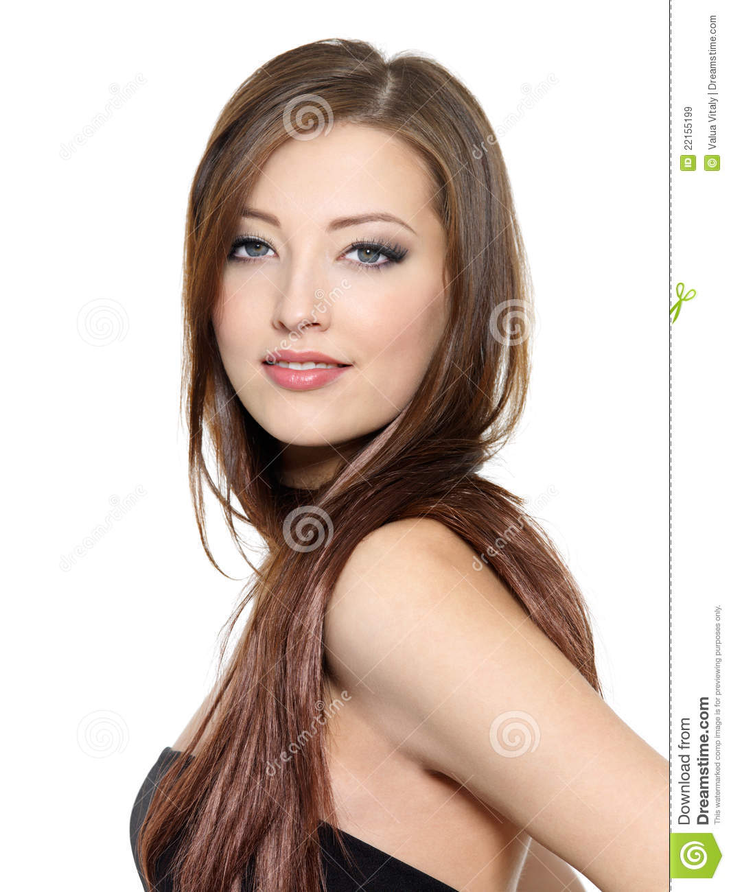 Beautiful lady with long hair