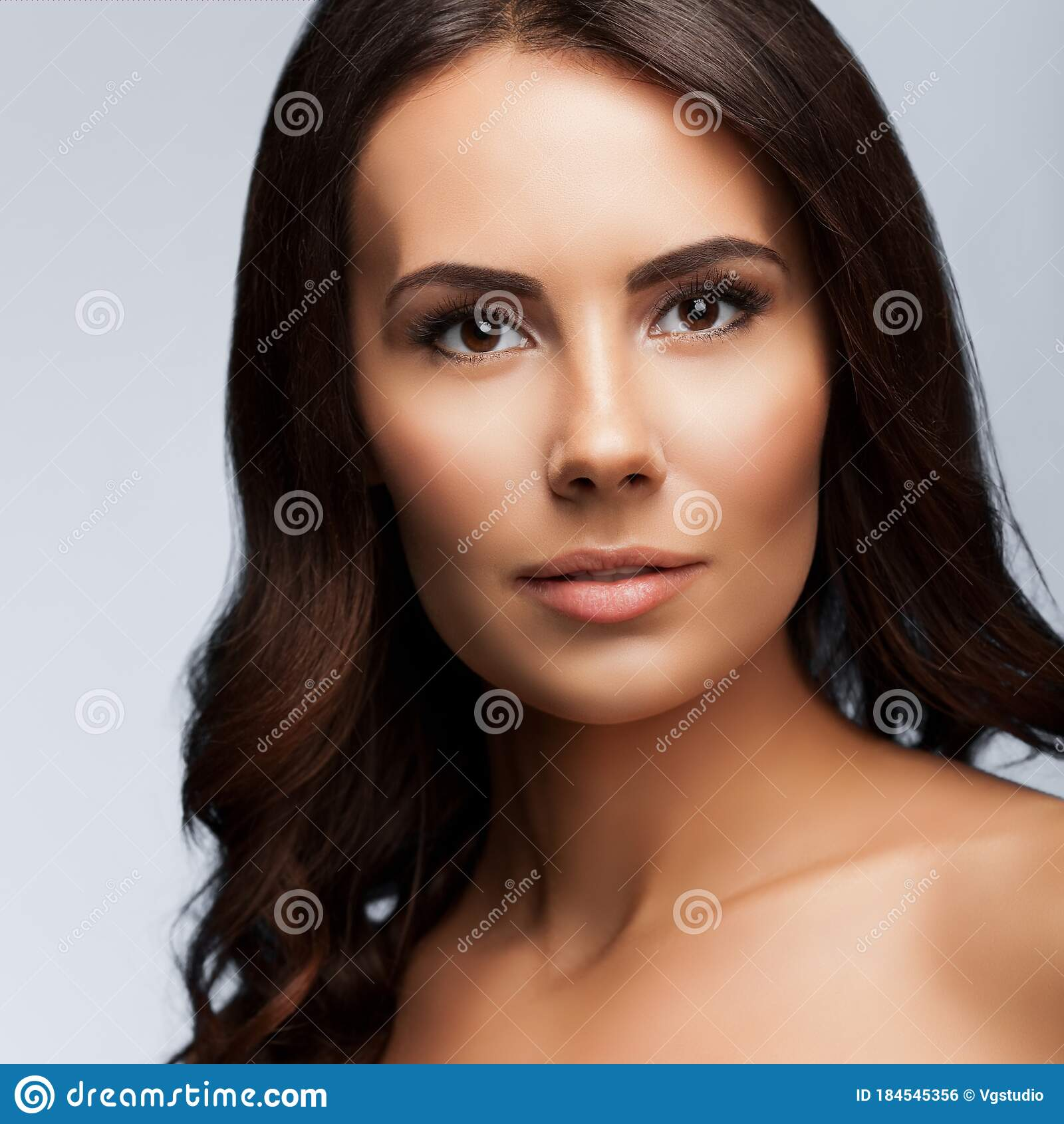 Beautiful Young Woman With Naked Shoulders Spa Stock Image