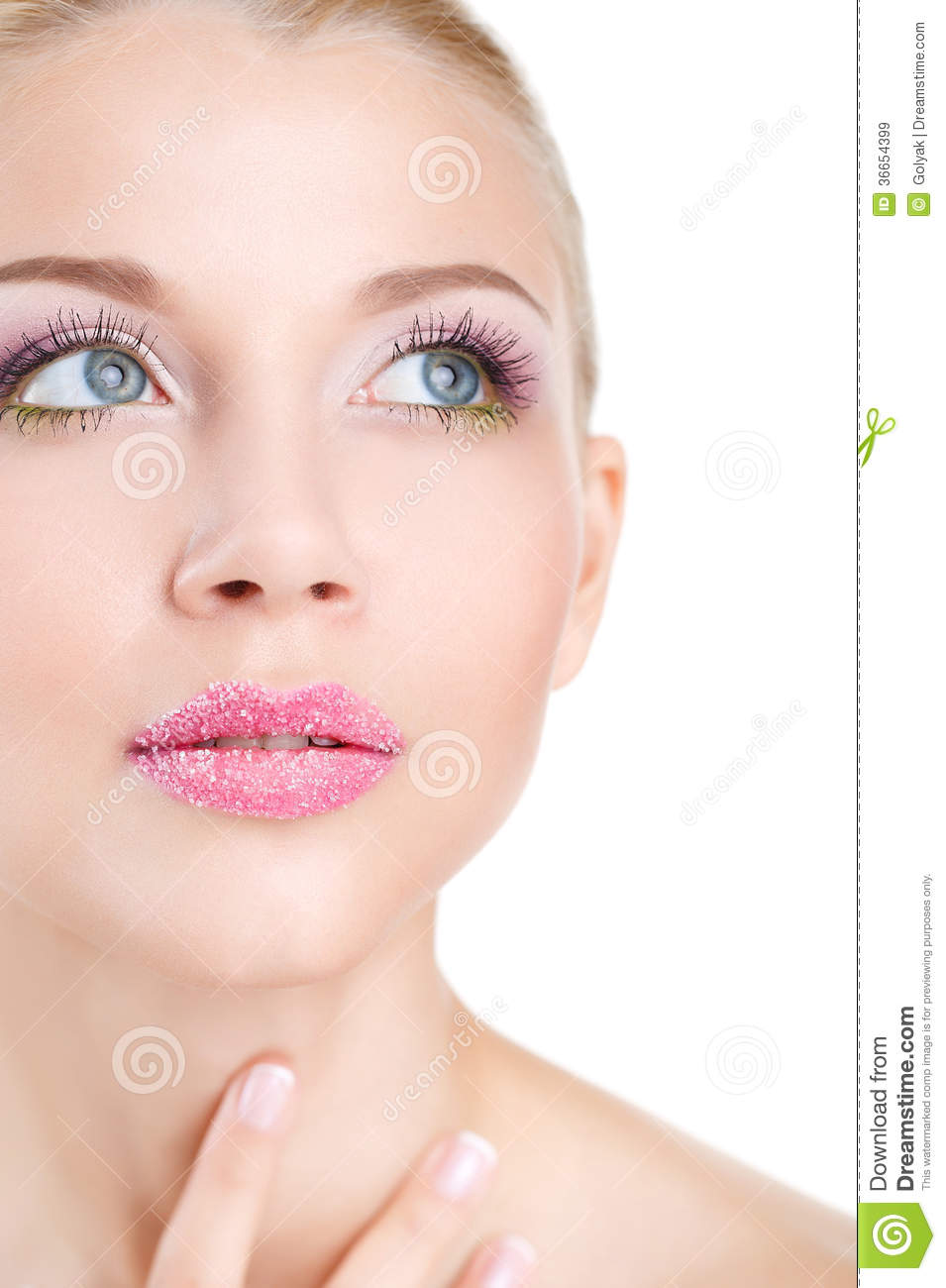 Skin Care, Make-up & Hair. Model Face With Make-up Stock ...