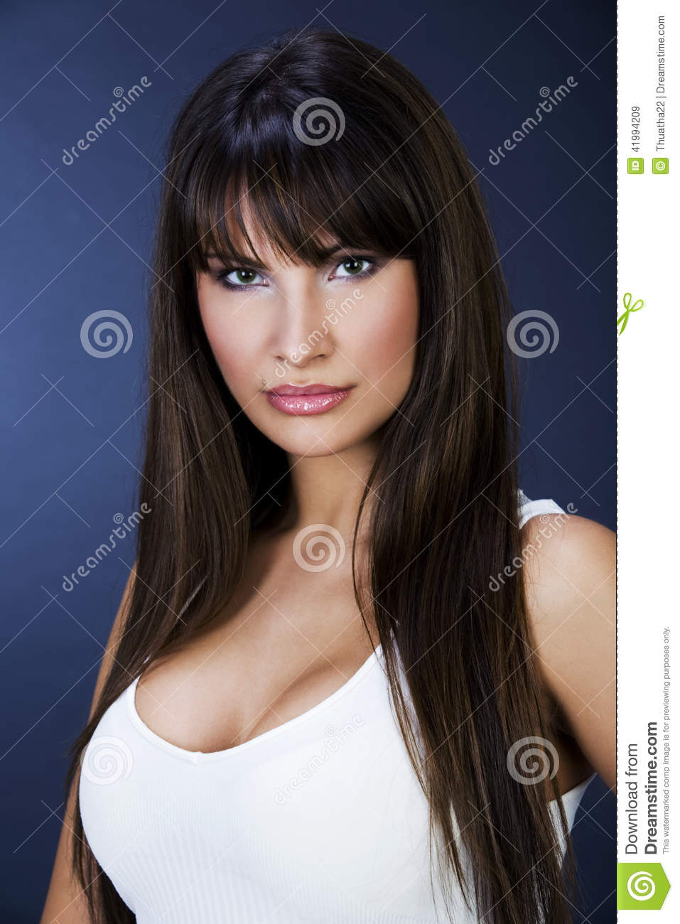Portrait of a beautiful women with big boobs stock image for Big beautiful women picture